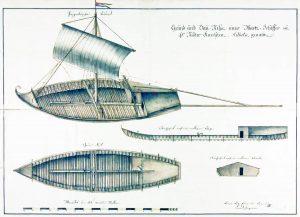 Okręt z przełomu XVIII i XIX wieku