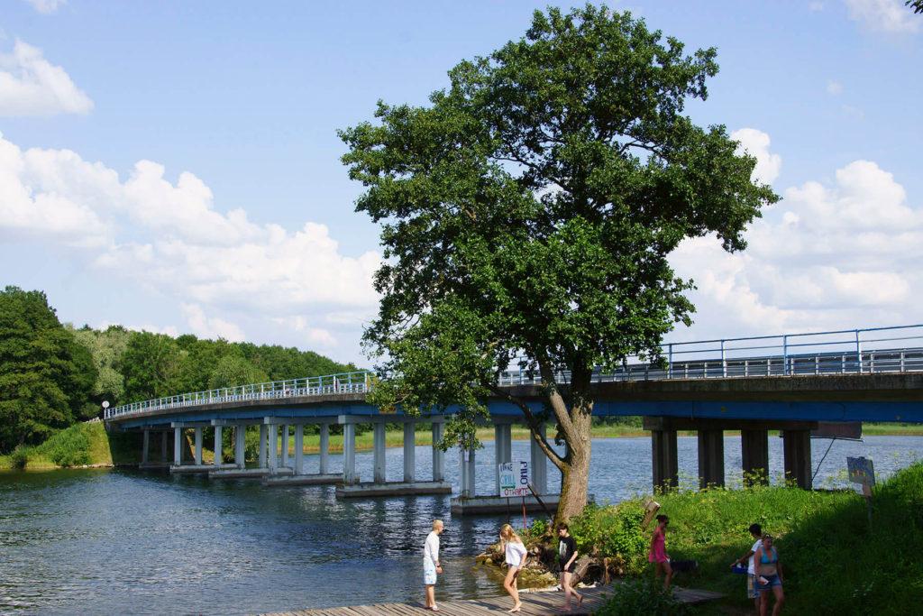 Most na przesmyku sztynorckim od strony Kirsajt
