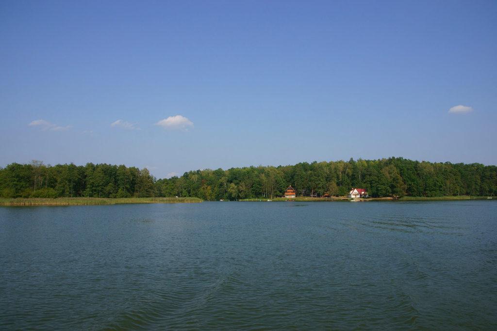 Jezioro Nidzkie u ujścia Kanału Nidzkiego