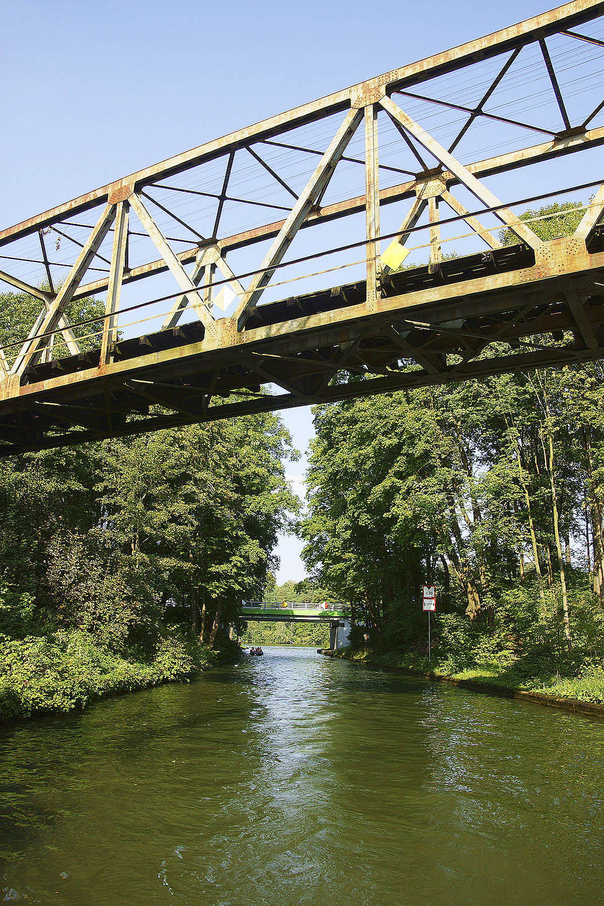 Most kolejowy na Kanale Nidzkim