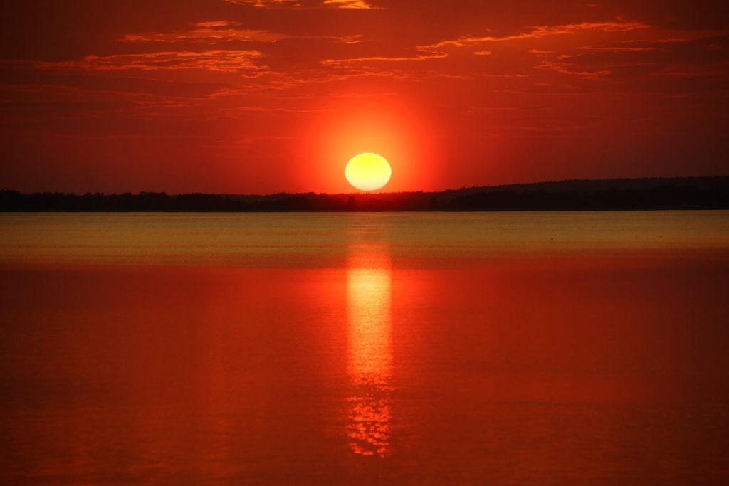 Zachód słońca nad Śniardwami