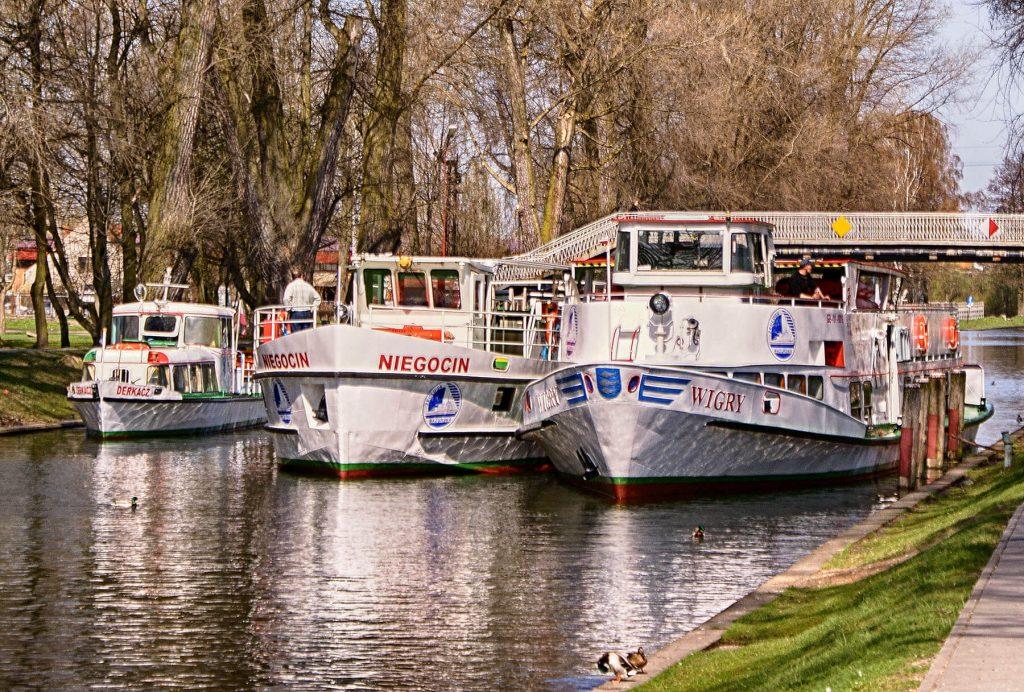 Flota na kanale w Giżycku