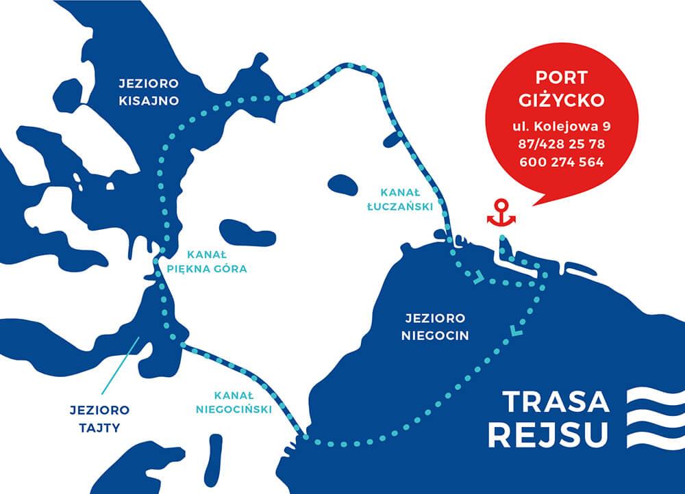 Mapa rejsy 3 kanały 3 jeziora