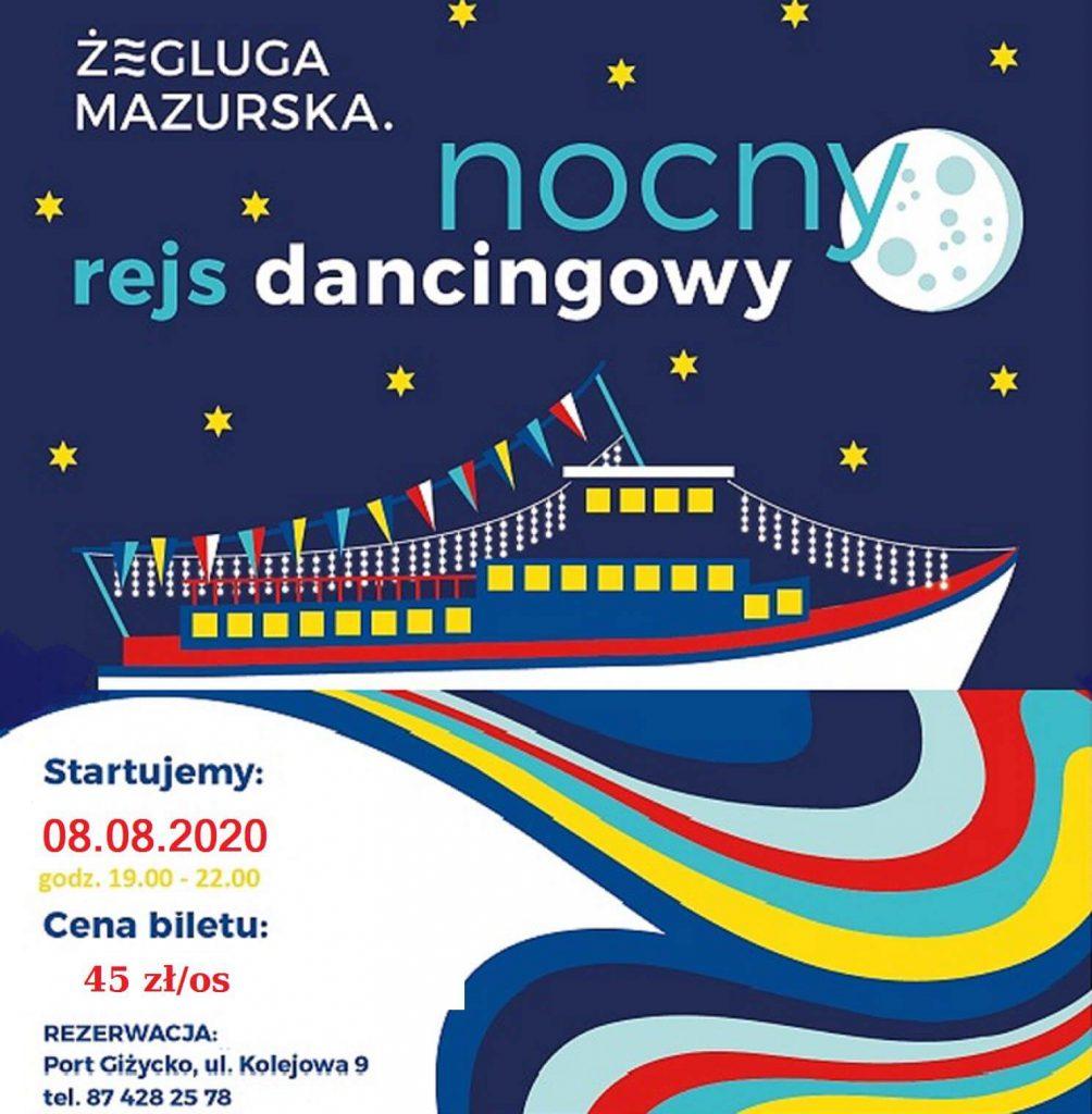 Rejs dancingowy 8 sierpnia 2020 r.