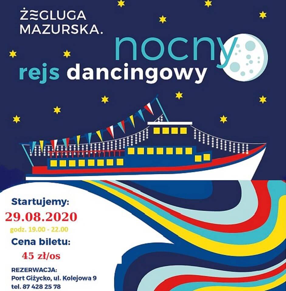 Rejs dancingowy 29 sierpnia 2020 r.
